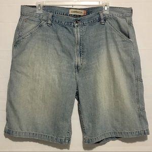 Levi's Carpenter Distressed Jean Shorts Mens 42